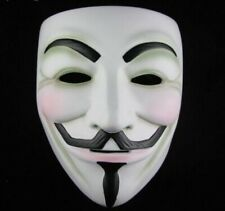 Vendetta Costume V Mask Guy Fawkes Anonymous Halloween Cosplay Party Fancy