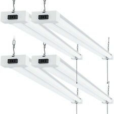 Sunco 4 Pack Frosted Led Utility Shop Light 40W (260W) 5000K Daylight 4100 lm