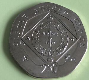 2010 Isle of Man 20p Twenty Pence Coin - Castle Rushen Clock - Uncirculated