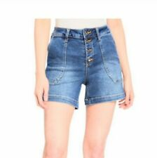 Max Studio Perfect Vintage High Rise Denim Shorts Size 14