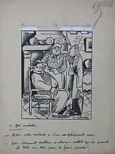 Maurice SAUVAYRE (1889-1978) dessin le gai malade Georges Delaw  Marcel Capy