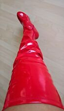 BOOTS LATEX OVER THE KNEE LENGTH BOOTS