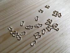 50 Conectores de Forma de 3 tono plata, Broches uso en lugar de salto/Split Anillos