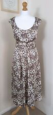 Beautiful Monsoon floral dress size 16 Grey Beige occasion party wedding