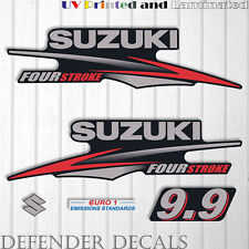 Suzuki 9.9hp Four Stroke outboard engine decal sticker set kit reproduction