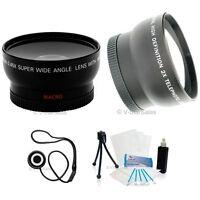 58mm 3 Lens Set Telephoto+Wide Angle+Macro+BONUS for Canon 7D 60D 350D 600D