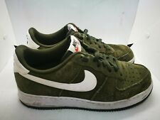 Nike Air Force 1 green suede casual trainers - Size 7.5