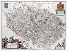Reproduction carte ancienne - Franche-Comté 1663