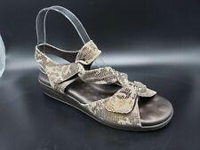Elites by Walking Cradles Valerie Women's Sandals Pewter Leather Size 7 WIDE