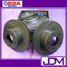 RDA Front SLOTTED and DIMPLED brake discs Holden VN, VG, VP serI