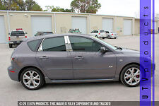GTG 2004 - 2009 Mazda 3 Hatchback 8PC Chrome Stainless Steel Pillars Posts