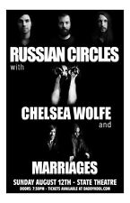 Russian Circles * ORIGINAL CONCERT POSTER rare limited Chelsea Wolfe Marriages