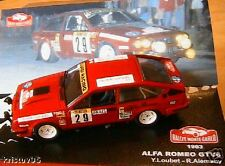 ALFA ROMEO GTV6 #29 RALLYE MONTE CARLO 1983 LOUBET  ALEMANY 1/43 IXO altaya