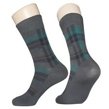 """5 Pairs Mens Check Pattern Dress Socks MK1G """"Skin contact surface is 100% cotton"""