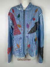 Hippy Boho Hoodie Patchwork Jacket Razorcut Embroidery Top Festival Cotton PJ5