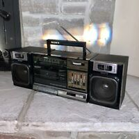 Working Sony CFS-1000 Dual Cassette Player Recorder Stereo Vintage Boombox Radio