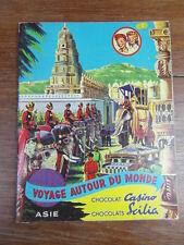 ALBUM IMAGES CHOCOLAT CASINO SCILIA Voyage Autour du Monde ASIE (Lot No 2)