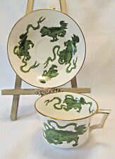 Wedgwood England Bone China CHINESE TIGERS GREEN Cup & Saucer