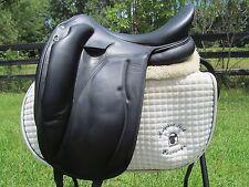"""18"""" DEVOUCOUX MENDIA D3D French black monoflap dressage saddle-2013 MODEL!"""