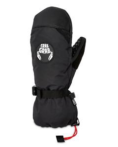 Crab Grab Cinch Mitts - Black (all sizes)