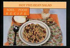 Recipe postcard US Hot Five Bean Salad Soul Food Recipe