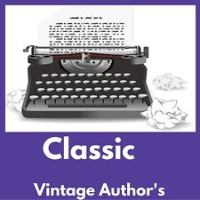 VINTAGE AUTHORS EBOOK COLLECTION - Kindle~eReader~Nook~Kobo|FREE BONUS|Data DVD