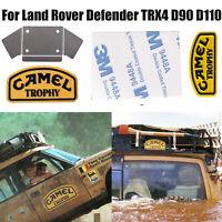 Metal Camel Trophy Badge Sticker + Bracket for 1/10 Land Rover TRX4 D90 D110 RC