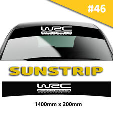 Sun strip WRC Any Car Racing Car Stickers Decal Graphics Windscreen Stripes