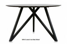 MINI* Esstisch rund grau schwarz, Spidertisch mineralisierte Platte Matz Möbel
