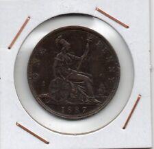 Great Britain : Penny 1887 ( Queen Victoria ) XF