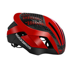 RockBros Red Bike Cycling Helmet Integrally Helmet 3 in 1 with Rain Cover