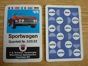 Auto Quartett Sportwagen FXS 52522 roter Dino