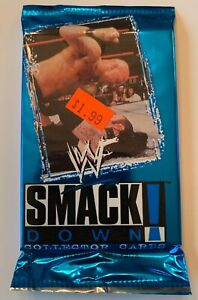 WWF Smack Down Collector Cards Factory Sealed Pack,Unopened (B2)