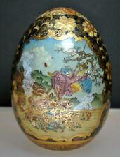 """Antique """"Satsuma"""" Decorative Collectible Egg"""