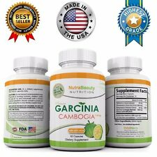GARCINIA CAMBOGIA EXTRACT 100% PURE ORIGINAL EXTREME Weight Loss 1300mg 60% HCA