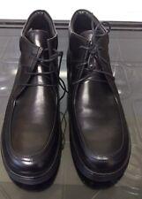Genuine Clarks Para hombre Zapatos/Botas-JAMBALAYA Negro Cuero-UK Size 4 (EU 37)