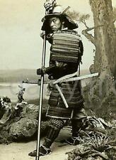 Samurai Warrior Japan 1840 7x5 Inch Reprint Photo