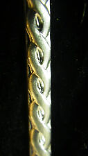 925 STERLING Silver Bezel Strip Wire TWIST ROPE Pattern 1 FOOT 100% Recycled USA