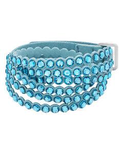 Swarovski Power 5523062 Fabric Aqua-Colored Crystal Bracelet