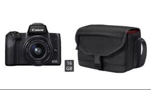 CANON EOS M50 Kit Systemkamera mit Objektiv 15-45 mm f/3.5-6.3, 7,5cm Display