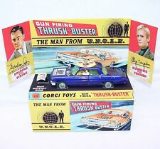 Corgi Toys 1:43 Oldsmobile THE MAN FROM UNCLE THRUSH-BUSTER + Repro Ring/Box `66