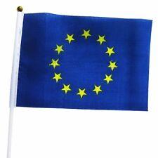 European Union EU Held Stick FLAGS Hand Table Flag Festivals Country Euro 5pcs