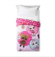 LOL Surprise Doll Bedding Reversible Comforter & 3 Pc Twin Sheet Set Glitterful