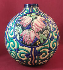 OLD SCARCE ART-DECO CERAMIC VASE BOCH LA LOUVIERE D. 2809