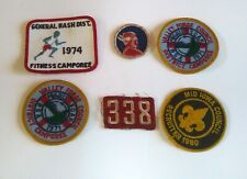 Vtg Lot Boy Scout Patches Fitness Camporee Iowa Recruiter Valley Forge Council