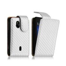 Housse coque etui gaufré pour Sony Ericsson Xperia Mini Pro (SK17i) couleur blan