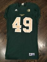 Game Worn Used Colorado State Rams Football Jersey #49 Russell L MOONEY