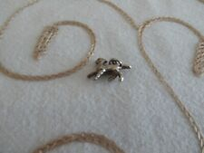 Vintage 925 Sterling Solid Silver Charm Pendant Pussy Cat Kitten 2.5g