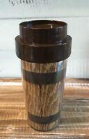 Vintage Mid Century 1976 Thermo Serve Old Oaken Bucket Coffee Mug Cup w/ Lid