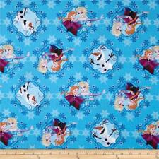 Disney FROZEN, OLAF & Sisters in Frames By-the-HALF-yard 100% cotton Fabric Elsa